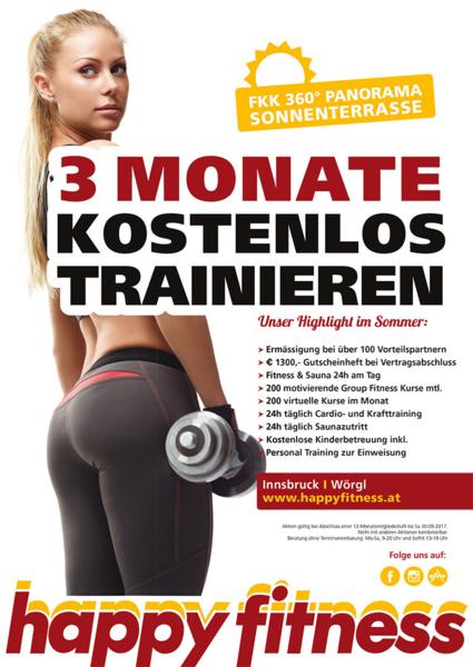 3 Monate kostenlos trainieren