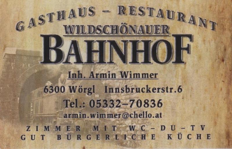 Wildschönauer Bahnhof - Gasthaus - Restaurant - Zimmer - Wörgl