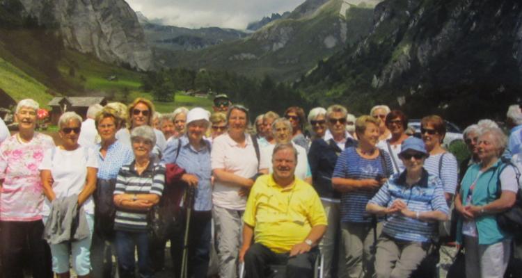 Ausflugsteilnehmer des Seniorenbund Wörgl