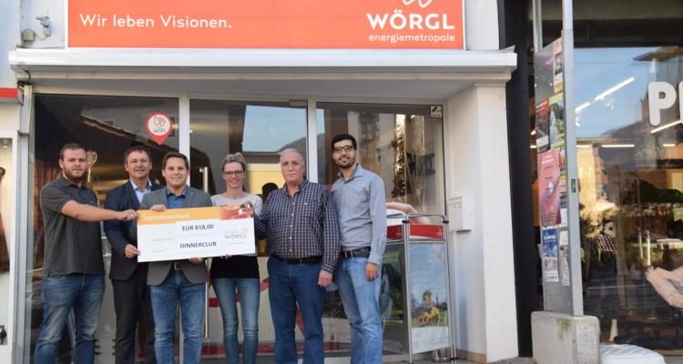 Dinner Club spendet an Licht für Wörgl