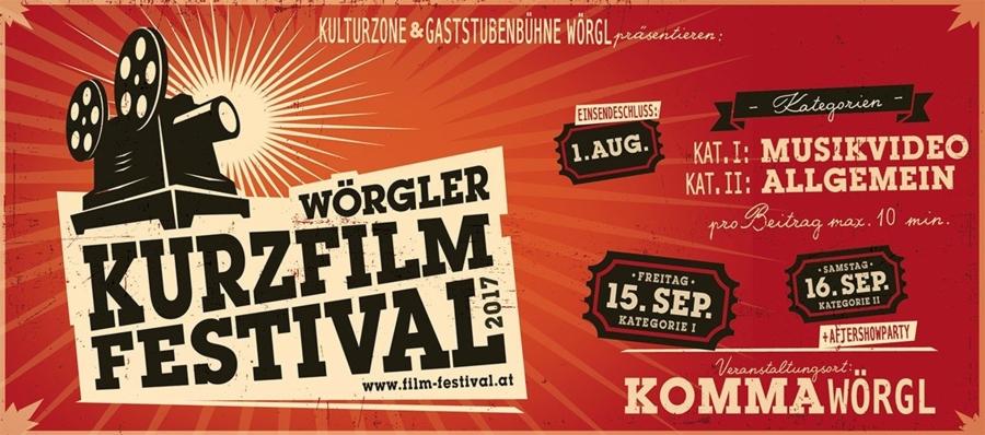 """""""Film ab!"""" heißt es wieder am 15. und 16. September beim Wörgler Kurzfilmfestival."""
