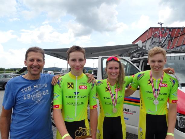 Gold und 2x Silber für Radclub Tom Tailor Wörgl
