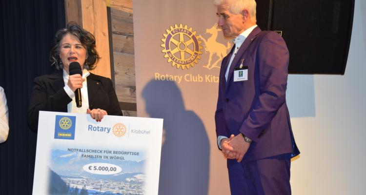 Großzügige Spende des Rotary Clubs Wörgl-Brixental