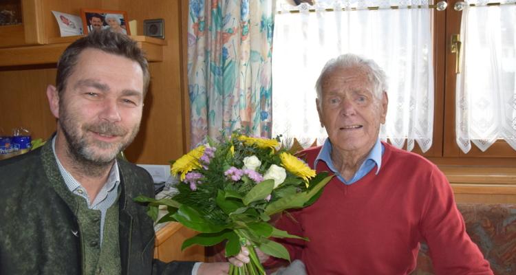 Josef Berger feiert 95. Geburtstag