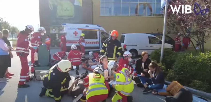 Katastrophenübung des Roten Kreuzes