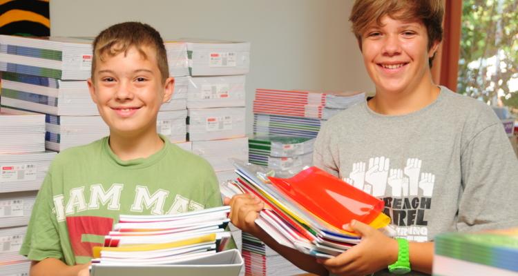 Marco Haller und Fabian Pair starten ins neue Schuljahr.