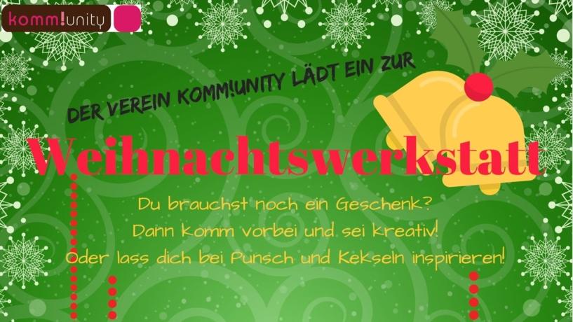 Komm!unity öffnet eine Weihnachtswerkstatt