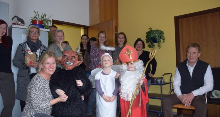 Nikolaus besucht Stadtamtsmitarbeiter