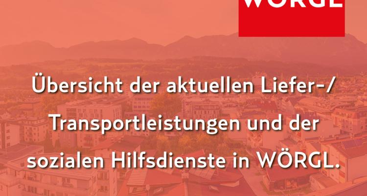 Online- und Lieferangebote des lokalen Einzelhandels in Wörgl