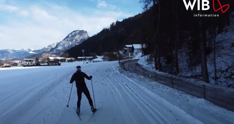Schneesichere Langlaufloipe in Wörgl