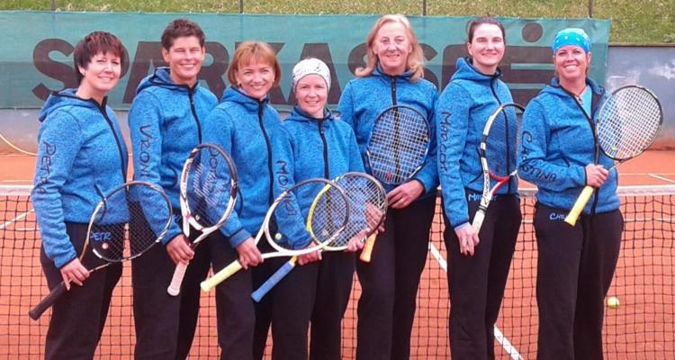 Von links nach rechts - hinten: Gratt Petra, Kaltenbrunner Vroni, Fössinger Doris; vorne: Maurer Christina, Hager Maria