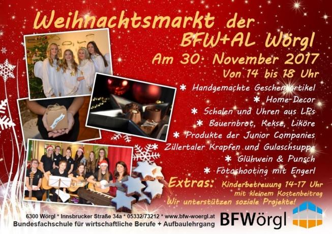 Wintermarkt der besonderen Art an der Bundesfachschule mit Aufbaulehrgang Wörgl