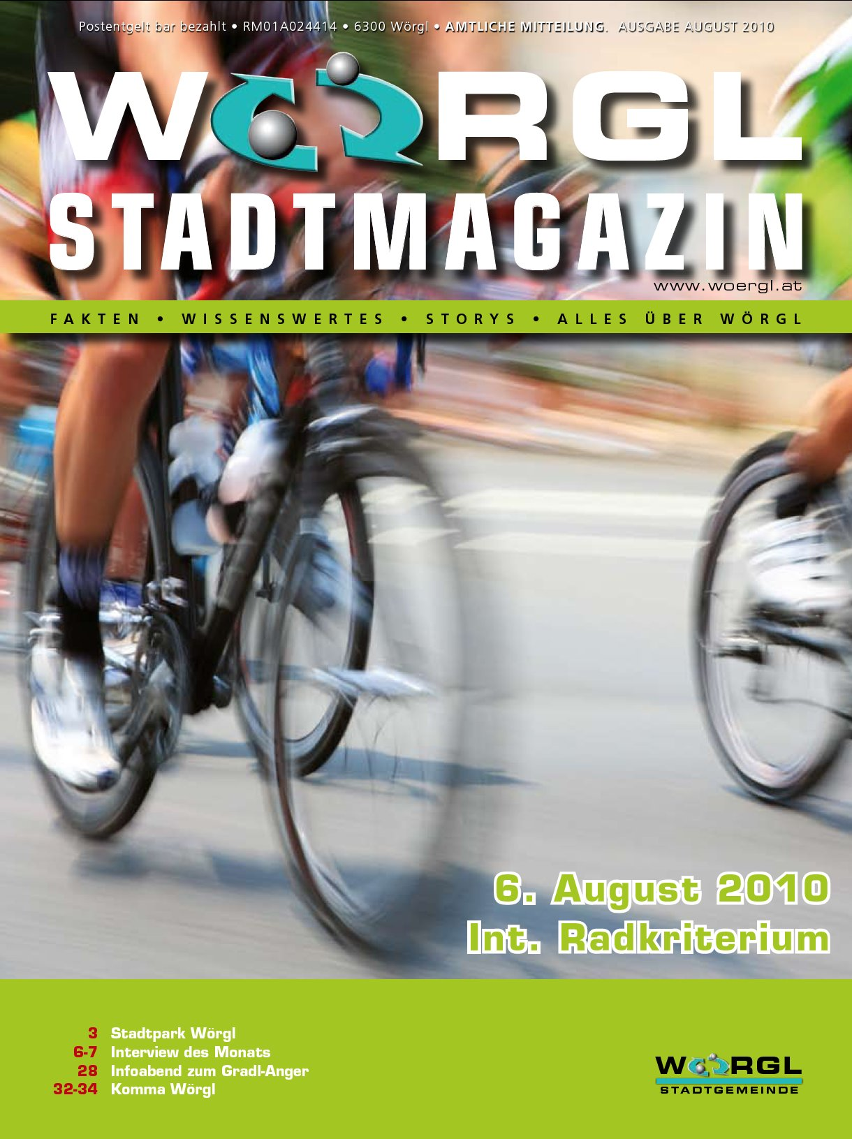 Wörgler Stadtmagazin August 2010