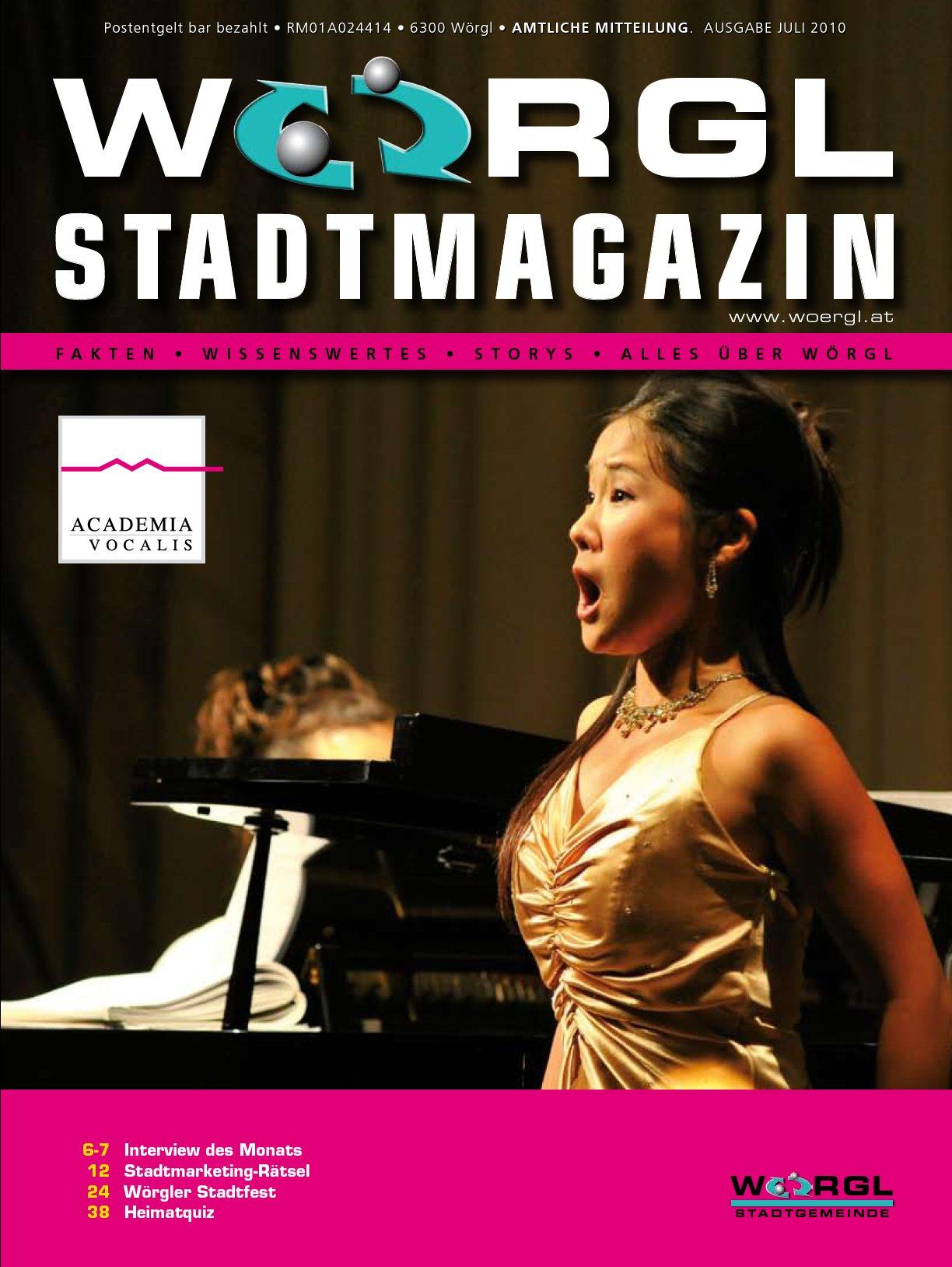 Wörgler Stadtmagazin Juli 2010