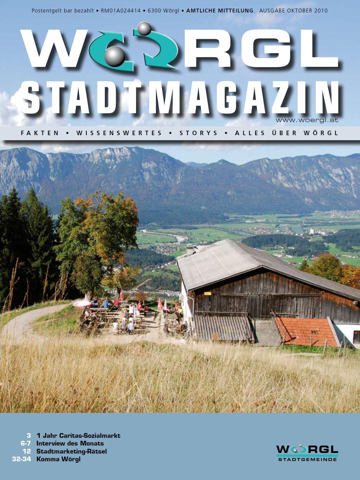 Wörgler Stadtmagazin Oktober 2010