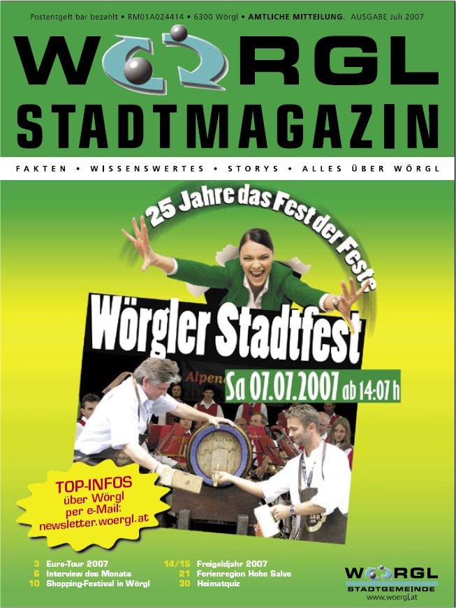Wörgler Stadtmagazin Juli 2007